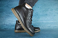 Мужские зимние ботинки с нат.кожи на меху Yuves Коричневые размеры: 40 41 42 43 44 45