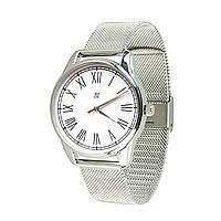 """Часы наручные """"Римская классика"""", браслет из нержавеющей стали, металлик"""