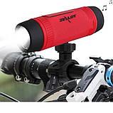Колонка Zealot S1 портативная Bluetooth повербанк, фонарик (серая), фото 4