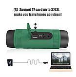 Колонка Zealot S1 портативная Bluetooth повербанк, фонарик (серая), фото 7