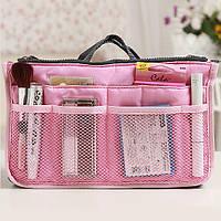 Многофункциональный Органайзер в сумку Bag in Bag Pink Розовый