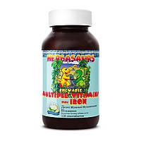 Детские жевательные мультивитамины «Витазаврики» («Herbasaurs» Chewable Multiple Vitamins plus Iron), фото 1