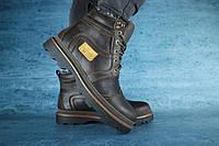 Мужские зимние ботинки с нат.кожи на меху Riccone Коричневые размеры: 40 41 42 43 44 45