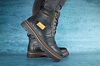 Мужские зимние ботинки с нат.кожи на меху Riccone Черные размеры: 40 41 42 43 44 45