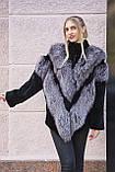 "Шуба из чернобурки и бобра ""Герда"" silver fox fur coat jacket, фото 3"