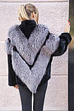 "Шуба из чернобурки и бобра ""Герда"" silver fox fur coat jacket, фото 4"