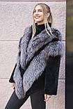 "Шуба из чернобурки и бобра ""Герда"" silver fox fur coat jacket, фото 5"