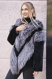 "Шуба из чернобурки и бобра ""Герда"" silver fox fur coat jacket, фото 6"