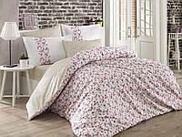 Комплект постельного белья  Hobby поплин размер евро  Luisa кремовый