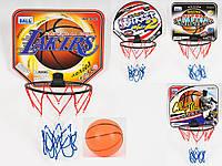 Баскетбольное кольцо, щит 29-25см(картон), кольцо 19,5см(пласт), мяч M2688