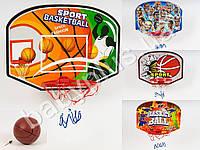 Баскетбольное кольцо, щит-картон 40-30см, кольцо-пласт 19см, сетка, мяч M2991