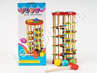 Деревянная игрушка Стучалка, молоточек, шарики, в коробке QZM-0205