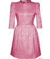 Платье из набивной ткани ЖАКЛИН розовый 44р