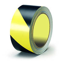 Ограждающая лента, желто-черная, 200м.