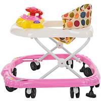 Детские ходунки  машинка с рулем-пищалкой. Музыкальные BAMBI М 3451