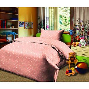 Постельное белье Звездопад персиковый бязь  ТМ Царский дом подростковый , фото 2