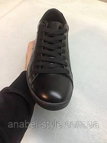 Кеды мужские Lacoste черные натуральная кожа