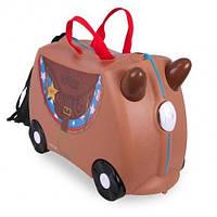 Чемодан детский на колесах Лошадка Бронко Trunki TRU0183 GL