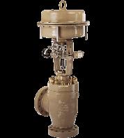 Пневматический регулирующий клапан тип 3256-1 и тип 3256-7. Угловой клапан тип 3256. Samson