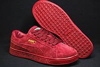 Бордовые кроссовки,кеды Staple x Puma Pigeon Pack