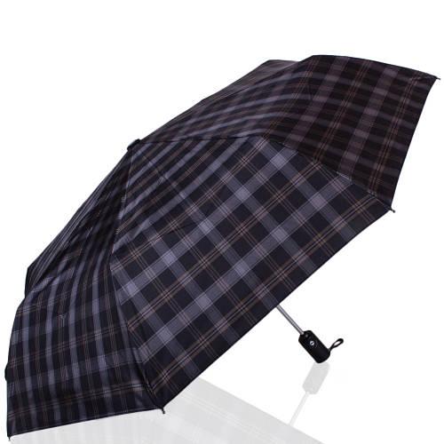 Стильный мужской автоматический зонт, антиветер ТРИ СЛОНА RE-E-907L-8, цвет серый.