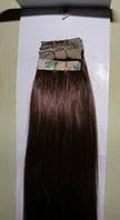 Натуральные волосы для ленточного наращивания 52 см. Оттенок №2.