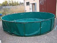 Бассейны круглые для рыборазведения объем 19,6 м3 ПВХ, каркасный, разборной