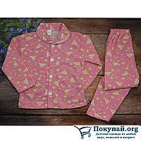 Байковая пижама для девочки Размеры: 4-5-6 лет (5721-1)