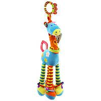 Мягкая подвеска - погремушка Жираф Happy Monkey