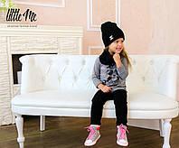 Детская зимняя шапка + хомут ( набор )