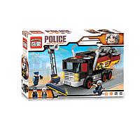"""Конструктор """"Brick"""" полиция, машина, фигурки 2 шт, 292 деталей.Игрушки конструкторы для мальчиков."""