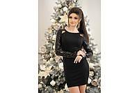 """Платье """"Дебора"""" длины мини, красивое черное короткое женское платье, разные размеры., фото 1"""