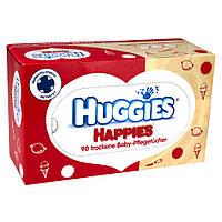Детские влажные салфетки сухие Huggies Happies