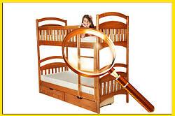 Особливості дитячих двох'ярусних ліжок.