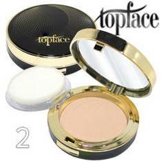 TopFace - Пудра компактная PT-257 Wet & Dry 2в1 Тон 02 ivory, светлый тон