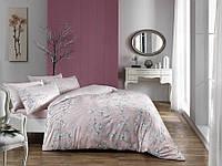 Постельное белье ТАС сатин Flora розовый евро размера