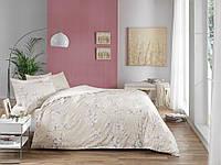 Постельное белье ТАС сатин Flora серый евро размера