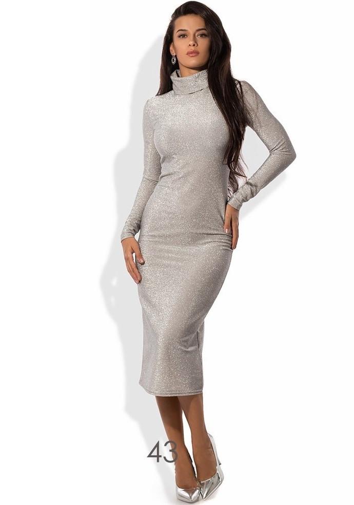 серебряное платье купить