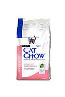 Cat Chow (Кет Чау) Adult Sensitive (Корм з лососем для котів схильних до алергії), 1.5 кг