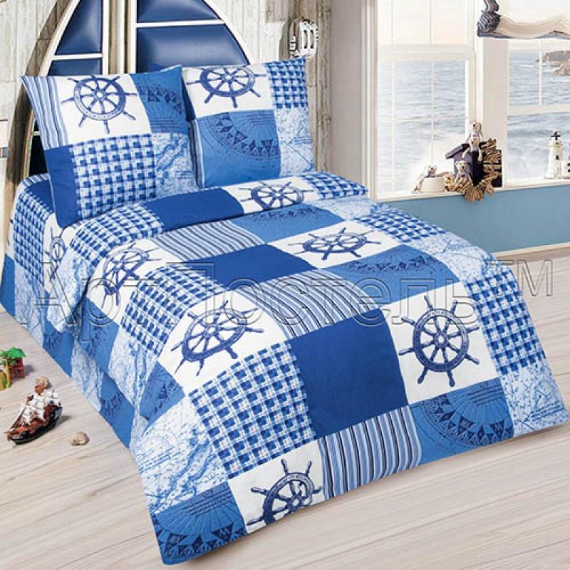 Постельное белье Мореход  поплин ТМ Царский дом в кроватку