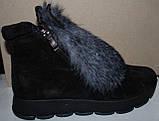 Ботинки молодежные зима из натуральной замши с ушками от производителя ЛУ418-2, фото 3