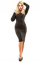 Платье люрекс 250 черное