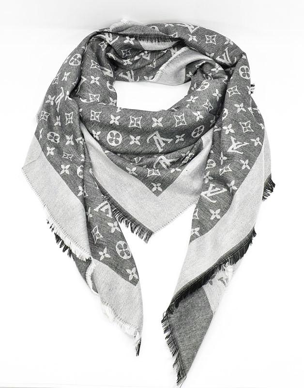 Кашемировая темно-серая шаль, платок Louis Vuitton 7988-4