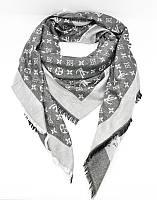 Кашемировая темно-серая шаль, платок Louis Vuitton 7988-4, фото 1