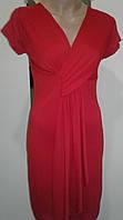 Красивое красное платье с эффектной драпировкой. Италия