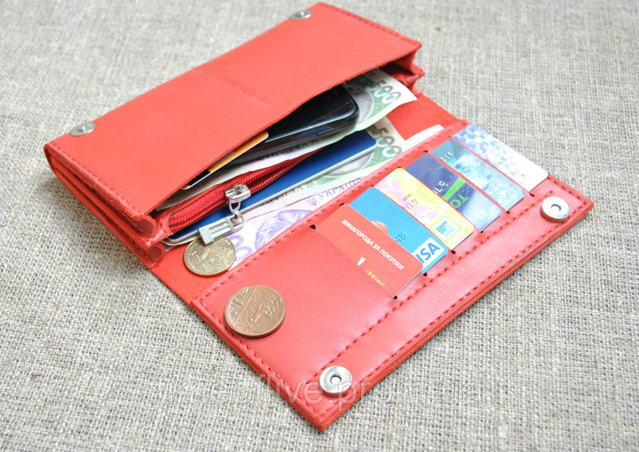 528a17973c64 Вместительное портмоне из натуральной кожи ручной работы: продажа ...