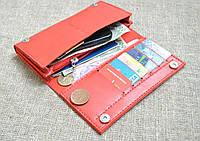 Вместительное портмоне из натуральной кожи ручной работы