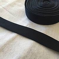 Стропа сумочная черная, ширина 3 см, фото 1