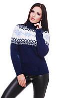 Женский зимний свитер с высоким горлом и рисунком 4704101