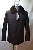 Зимняя мужская куртка Losscidi на верблюжьей шерсти с норкой 48 размер